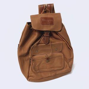 Vintage Tan Backpack